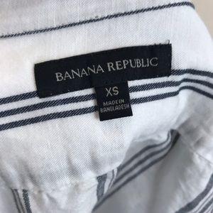 Banana Republic Tops - Banana Republic Vertical Stripe Button Front Top